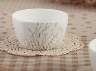 泊杜家居 唐山骨瓷 相依相随-方碗 米饭碗 汤碗 韩式碗,碗盆,