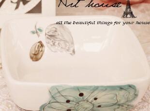 出口欧美外贸陶瓷花之语碗 面碗 汤碗 饭碗 泡面碗 陶瓷碗 菜碗,碗盆,