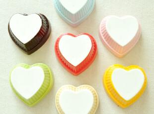 买7个包邮.超可爱的纯色陶瓷心形小碗布丁碗烘焙碗迷你可爱,碗盆,