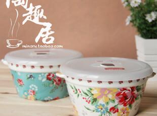 双耳顶级版陶瓷饭碗/保鲜碗/便当盒小号 出口日本原单外贸陶瓷,碗盆,