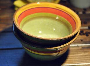 【欧美原单】LAURIEGATES彩绘日式陶瓷碗 宜家 礼品 田园 欧式,碗盆,