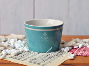 Bao ZAKKA 日单 杂货 帆船与海锚 复古海洋系列 海锚小碗,碗盆,