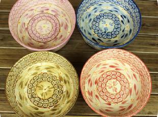 【包邮】花哨,切勿从简。大只 手绘 陶瓷盆 果盘 汤盆 菜盆。圆,碗盆,