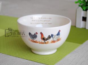 微疵|碗|饭碗|面条碗|6英寸球碗|手绘陶瓷餐具|外贸出口|原单尾货,碗盆,