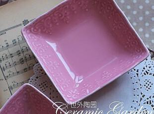 蕾丝诱惑。粉色碗/零食碗/碟/盘子 法国订单,碗盆,