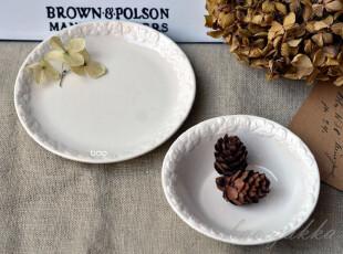 BAO ZAKKA 杂货 日单 浮雕玫瑰 小甜品碗 与 零食小碟,碗盆,