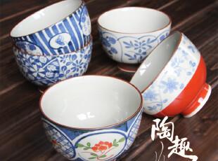 【日本进口陶瓷】有田烧 陶瓷米饭碗 一套五个礼盒装v18-31840,碗盆,