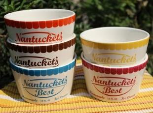 【A grass】外贸陶瓷五色冰淇淋碗、沙拉碗、料碗,碗盆,