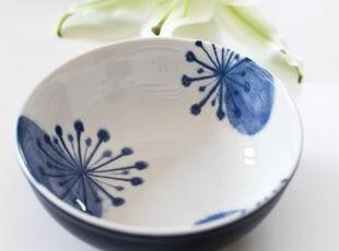 超美:和风风格蓝色烟花小碗/米饭碗/小菜碗 出口 西餐餐具,碗盆,