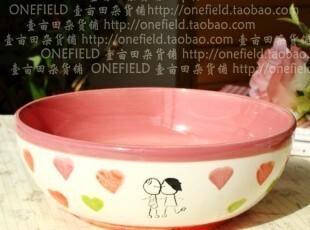 ZAKKA杂货/田园乡村手绘陶瓷餐具/爱的程式汤碗/二款可选,碗盆,