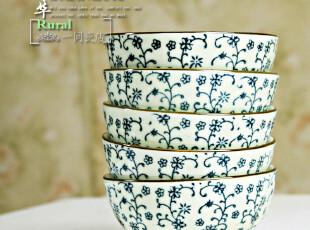 景德镇米黄色 高档米饭碗 陶瓷碗 5枚入 礼盒装,碗盆,