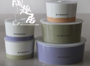 纪梵希Givenchy 套装保鲜碗/便当盒  出口日本原单陶瓷 GB90-82-5,碗盆,