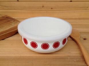 『樂樂堂』大圆点 搪瓷珐琅碗 保鲜碗 收纳盒 大号,碗盆,