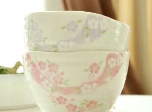 C designer 日本螺纹波纹碗口.大米饭碗.陶瓷碗---清新.年轮,碗盆,