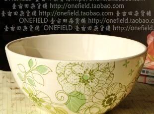 北欧风格/清新森女范儿/法式乡村花语琦丝陶瓷汤碗/面碗/果盆/A款,碗盆,