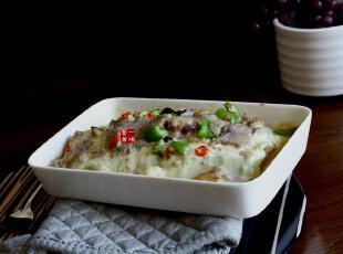 陶瓷餐具 瓷器盆子 小方烤盆 千层面盆 餐盆 布丁盘,碗盆,