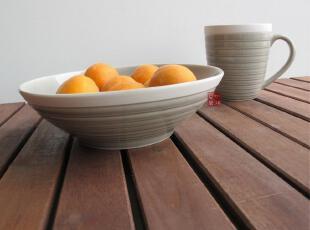 陶瓷餐具外贸美国名品SANGO冰淇淋灰 汤碗杯子,碗盆,