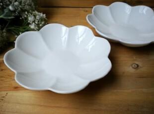 碗 陶瓷餐具外贸出口原单 创意纯白甜品碗 莲花碗 点心碟 布丁碗,碗盆,