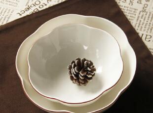 """外贸陶瓷餐具Luzerne""""花瓣形""""汤碗 冰淇淋碗 沙拉碗 布丁碗,碗盆,"""