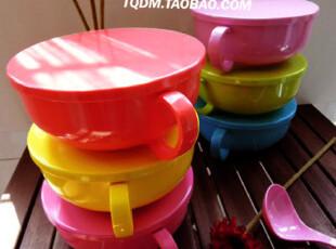 满包邮密胺餐具日式碗 糖果色创意泡面碗带盖 日式面碗 大汤碗 碗,碗盆,