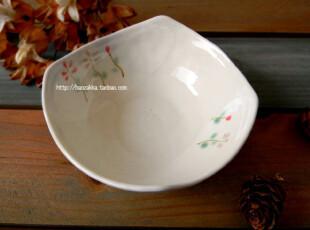 Bao zakka 日式 和风手绘 2朵小花系列 四角 米饭碗 菜碗,碗盆,