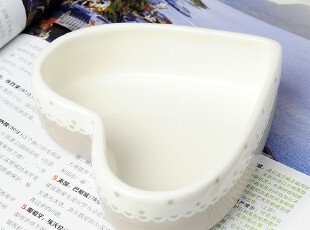 外贸陶瓷 手绘英伦波浪花边灰色浮雕零食碗家居用品,碗盆,