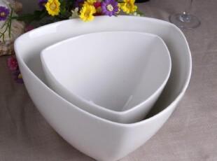 瓷器外贸出口原单餐具Luzerne三角形方碗 西式汤碗 沙拉碗 异形碗,碗盆,