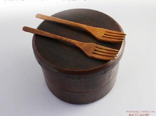 天然环保 出口日本 日式木碗 大号带盖泡面碗  两层套装寿司盒,碗盆,