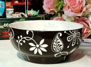 现代简约/法式乡村陶瓷餐具/水草花餐碗/大面碗/爆米花碗/汤碗,碗盆,