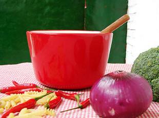 【A grass】外贸出口陶瓷 情人心花园.简约红 餐碗\碗!,碗盆,