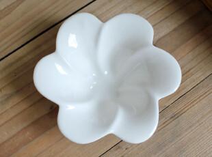 千度悠品 zakka 日式杂货 陶瓷餐具 纯白 花型碗 小碗 甜点碗,碗盆,