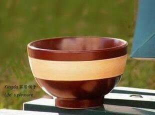 Kingda:外贸陶瓷餐具 巧克力焦糖 面碗 H459,碗盆,