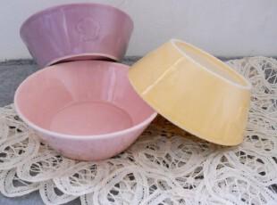 陶瓷浮雕小花米饭碗/西式汤碗/冰激凌碗 三色入 暖暖色调,碗盆,