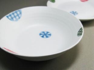城色外贸 糖果手绘 和风陶瓷 日式餐具 陶瓷大碗中汤碗300g,碗盆,
