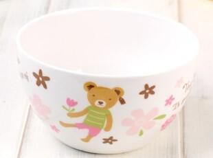 『韩国进口家居』X671 可爱花花小熊 抗菌陶瓷饭碗,碗盆,