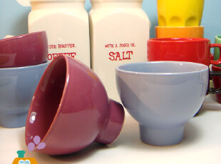外贸陶瓷雪糕碗/汤碗/点心碗 (2色),碗盆,