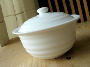 [北欧原单]纯白色新骨瓷带盖汤碗/炖盅/汤盅/出口餐具/非一般陶瓷,碗盆,