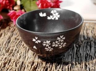 Kingda 出口日本 和风陶瓷餐具 出口瓷器 白樱花 哑光 米碗 饭碗,碗盆,