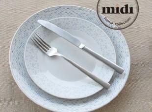 西班牙品牌 灰色断点 两件套 平盘&汤盘,碗盆,