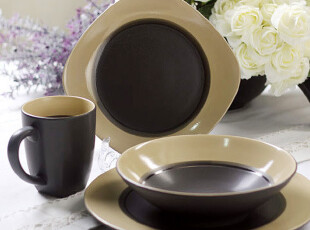 外贸西餐牛排陶瓷餐具 欧洲名品 星环 正餐餐具 特价 多种组合,碗盆,