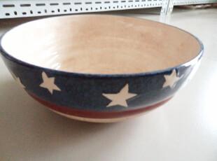 外贸陶瓷 欧美原单 美国国旗系列 手绘 大号汤盆 和面盆,碗盆,