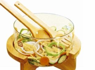703沙拉碗/调料碗/玻璃碗/竹木架/出口欧美/宜家/外贸/厨房用品,碗盆,
