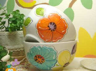 美丽说推荐 imports1pier.手绘原单陶瓷碗 韩式饭碗/拉面碗/汤碗,碗盆,