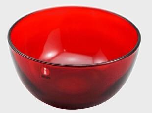 Iittala-主题-teema 红色玻璃碗 创意碗6411920055157,碗盆,