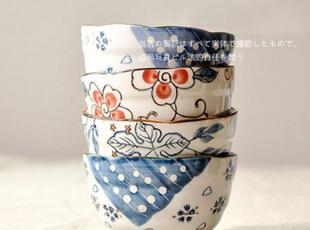 包邮/l100%好评 日式碗 饭碗 陶瓷碗手绘 陶瓷面碗/米饭碗,碗盆,