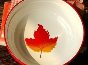 法式乡村陶瓷餐具/安大略的枫叶浅汤大碗/沙拉碗/菜碗,碗盆,