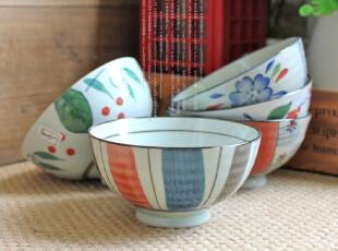 千度悠品 日式和风 陶瓷餐具 春华秋实 饭碗 碗 5入礼盒,碗盆,
