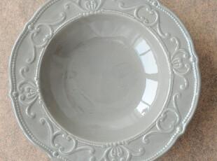 工厂成本清仓-外单瑕疵品厚重浮雕西式汤碗  可做拍照用,碗盆,