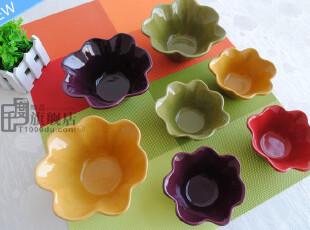 微疵|花形碗|异形碗|水果沙拉碗|冰激凌碗|外贸陶瓷餐具|出口尾货,碗盆,