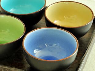 特惠无折.禅瓷西.跃然瓷间的薄冰--冰裂釉.纯色陶瓷米饭碗.4色,碗盆,